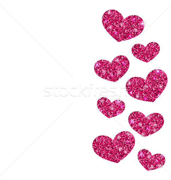 Background for Valentines Day with Shimmering Hearts Stock photo © smeagorl