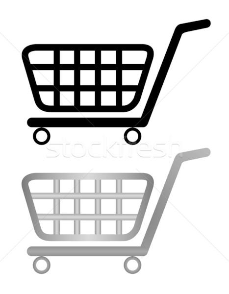 Illustration Warenkorb isoliert weiß Geld Hintergrund Stock foto © smeagorl