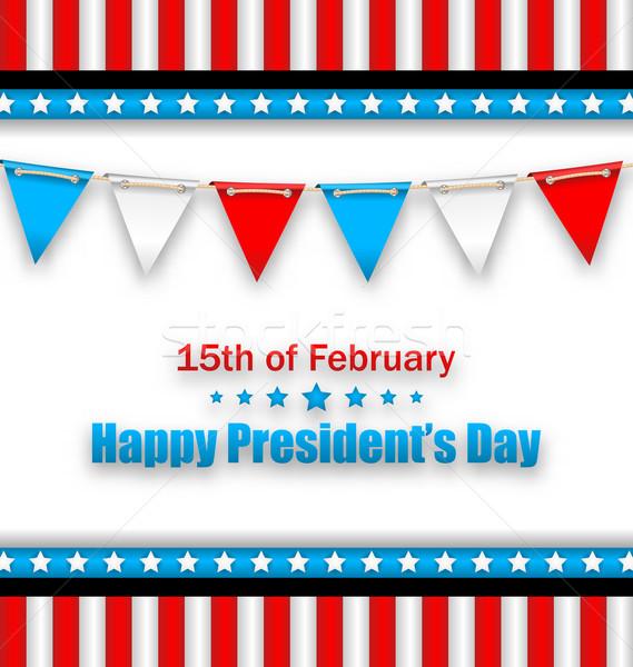 Broszura flagi szczęśliwy dzień USA ilustracja Zdjęcia stock © smeagorl