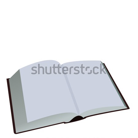 Opened book is isolated on white background Stock photo © smeagorl
