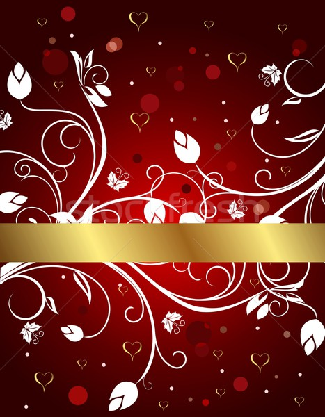 congratulation floral card for Valentine's day Stock photo © smeagorl