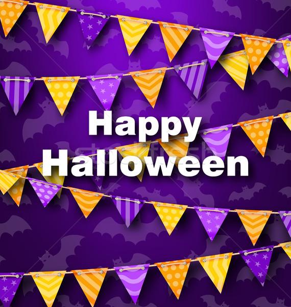 красочный подвесной строку Хэллоуин вечеринка иллюстрация Сток-фото © smeagorl