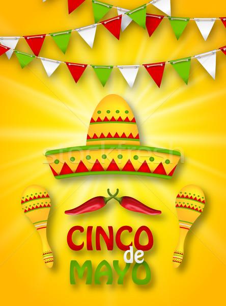 Holiday Celebration Banner for Cinco De Mayo Stock photo © smeagorl