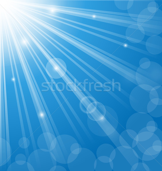 Abstract blue background with  lens flare Stock photo © smeagorl