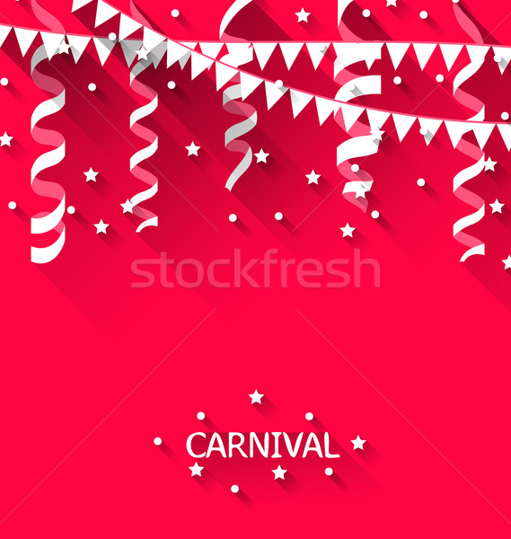 Holiday background with hanging pennants for carnival party in t Stock photo © smeagorl