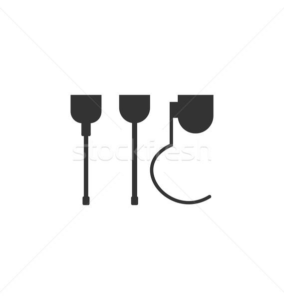 искусственный ног иллюстрация пиктограммы изолированный белый Сток-фото © smeagorl