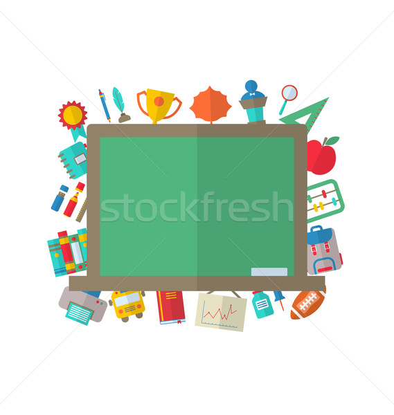 Flat Icons of Blackboard Stock photo © smeagorl