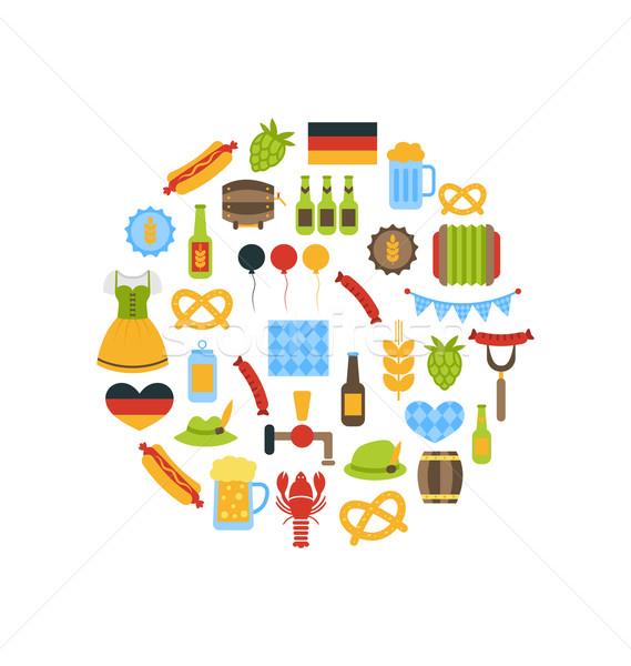 Oktoberfest Colorful Symbols Stock photo © smeagorl