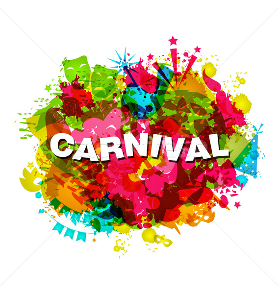 Carnival Splotch Abstract Grunge Watercolor Background Stock photo © smeagorl