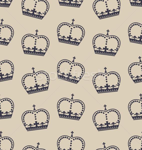 Duvar kağıdı taç İngilizler kraliyet aile Stok fotoğraf © smeagorl
