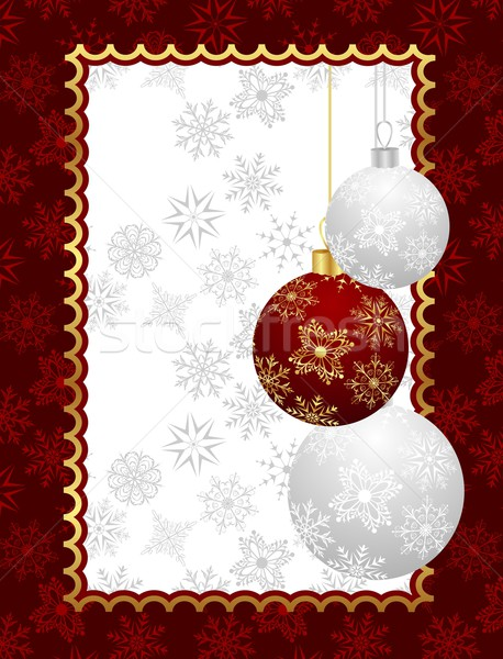 Christmas background with set balls Stock photo © smeagorl