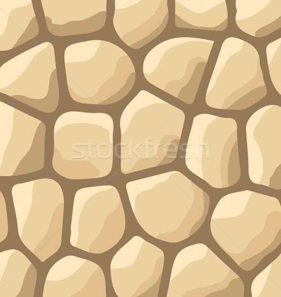 Textuur stenen stenen muur illustratie ontwerp rock Stockfoto © smeagorl
