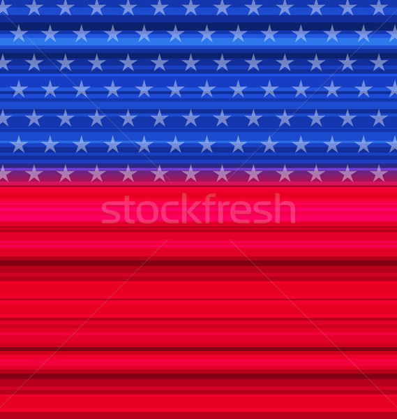 Abstract American Flag for happy 4th of july Stock photo © smeagorl