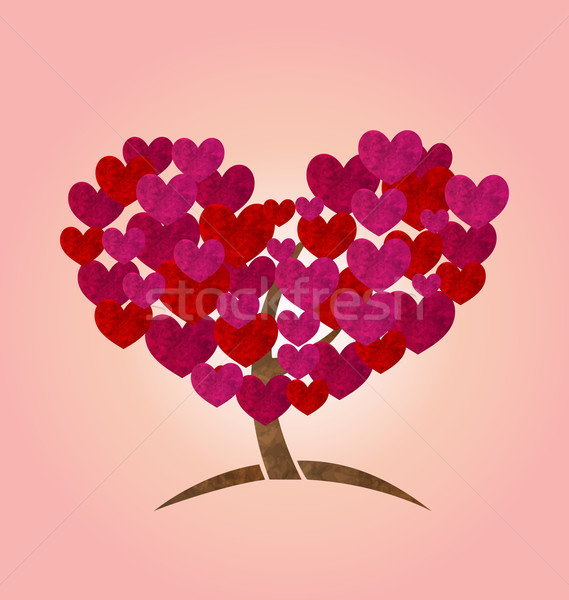 Concept of tree with heart leaves for Valentines Day Stock photo © smeagorl