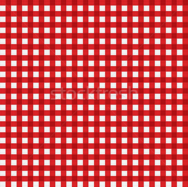 Pattern picnic tablecloth vector Stock photo © smeagorl