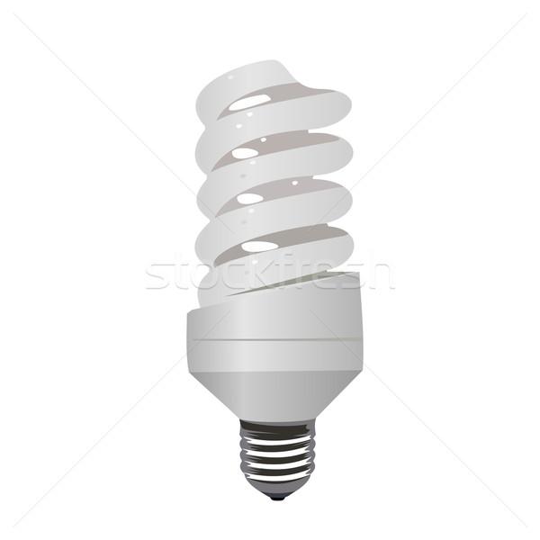 Realistic illustration saving lamp eco Stock photo © smeagorl
