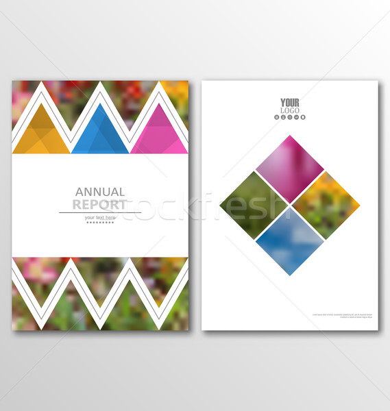 Leaflet Brochure Flyer Template A4 Size Design, Annual Report Book Design Stock photo © smeagorl