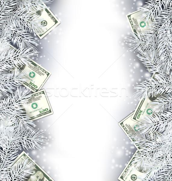 Foto stock: Férias · quadro · dólares · ilustração