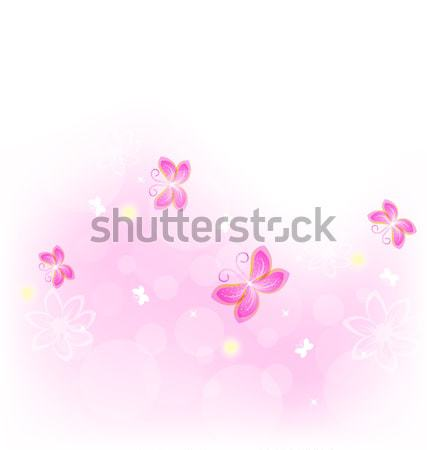 Abstract nature background with butterfly for design celebration Stock photo © smeagorl