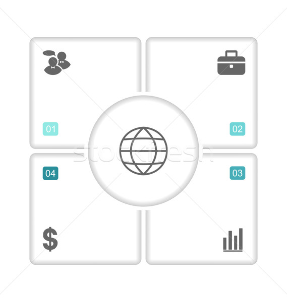 Modern design brochures with info graphic icons Stock photo © smeagorl