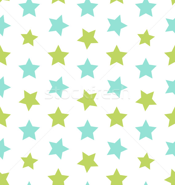 Seamless Texture with Colorful Stars, Elegance Kid Pattern Stock photo © smeagorl