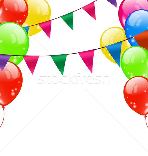 Party Background with Balloons Stock photo © smeagorl