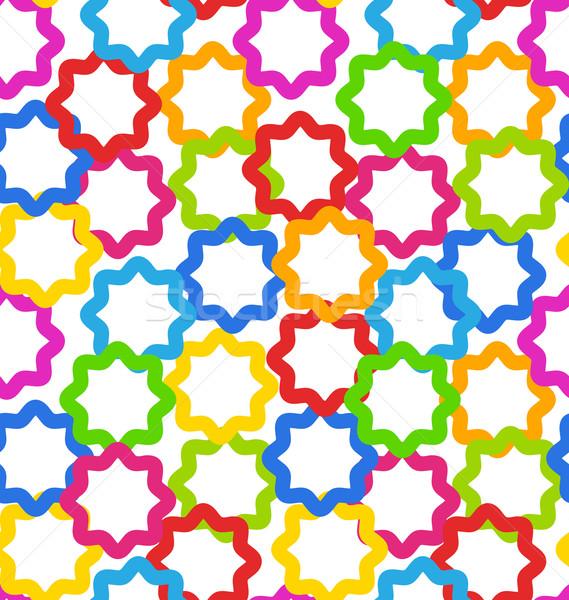 Seamless Geometric Texture, Kid Contrast Background Stock photo © smeagorl