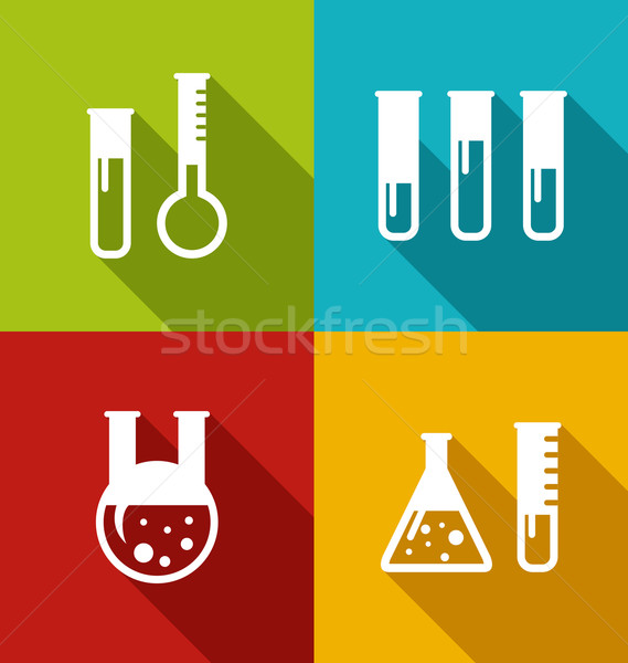 Chemical Test Tubes Stock photo © smeagorl
