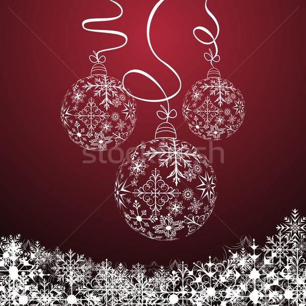 Foto d'archivio: Natale · illustrazione · cute · mondo · abstract