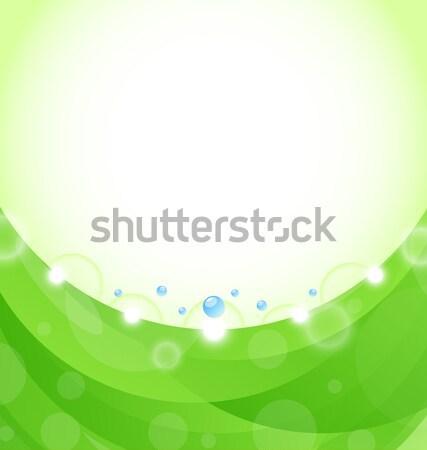 Eco doğa tasarım şablonu örnek ışık arka plan Stok fotoğraf © smeagorl