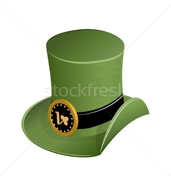 Green hat in st Patricks Day Stock photo © smeagorl