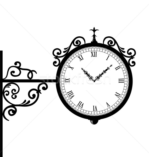 Retro relógio ilustração vidro metal Foto stock © smeagorl