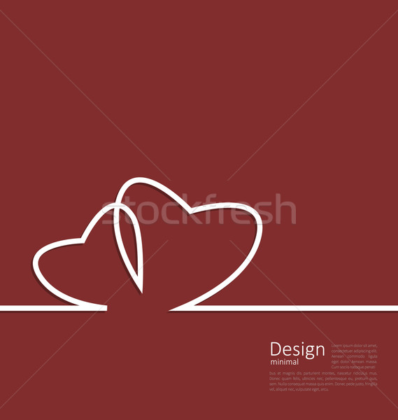 Stock photo: Layout couple hearts for design card on Valentines Day