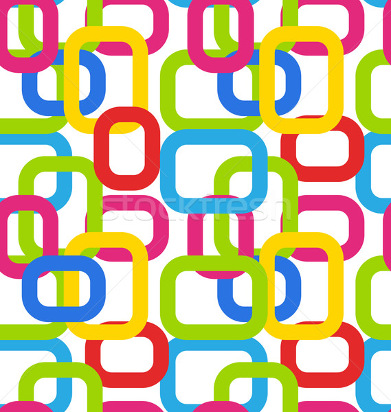 Seamless Geometric Pattern with Colorful Rectangles Stock photo © smeagorl