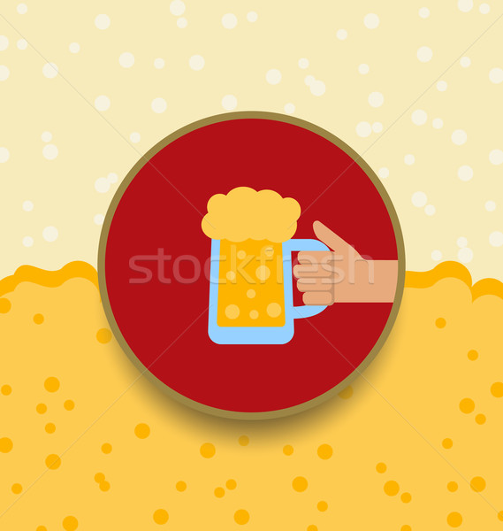 Oktoberfest Background with Mug of Beer Stock photo © smeagorl