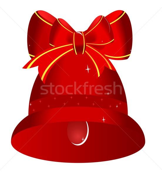 Noël rouge cloche arc musique fond Photo stock © smeagorl