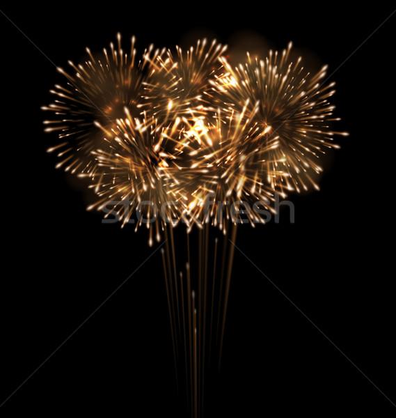 Festive Grandiose Firework Explode Bursting Sparkling Stock photo © smeagorl