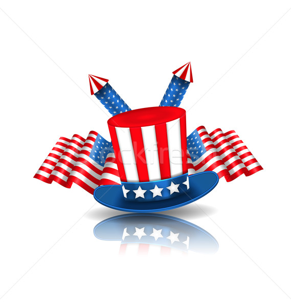 Stock photo: National Symbols of USA in American Colors
