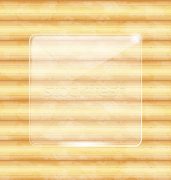 Glass fragile framework, wooden texture Stock photo © smeagorl