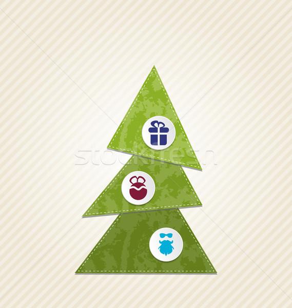 Christmas tree with infographics, minimal style Stock photo © smeagorl