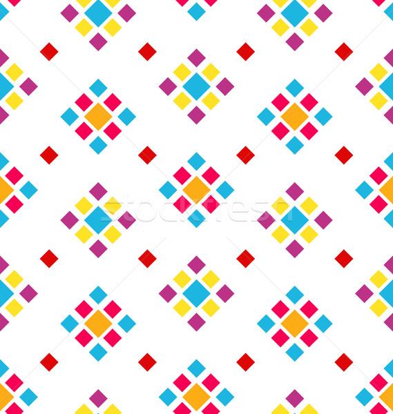 Geometrik doku renkli periyodik örnek Stok fotoğraf © smeagorl