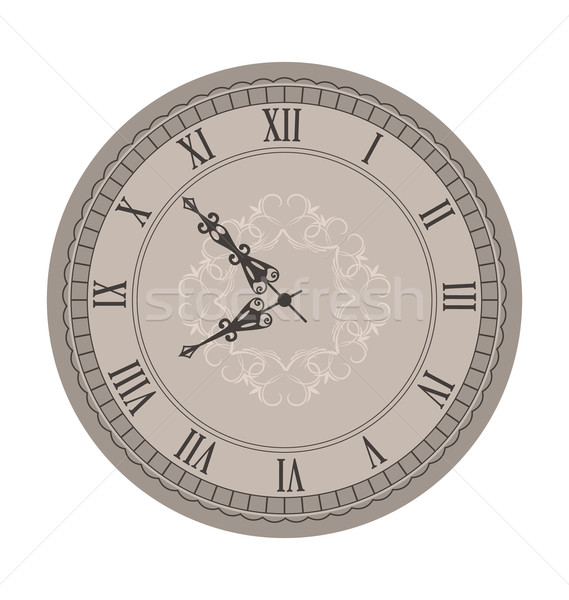 Old Clock with Vignette Arrows Stock photo © smeagorl