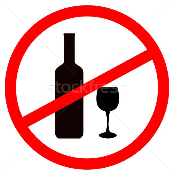 Sign stop alcohol vector illustration © Oleg Tirunov ...