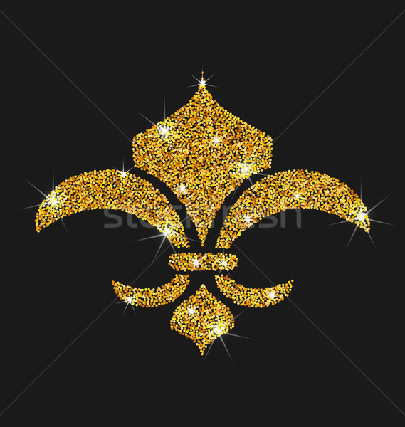 Icon of Fleur de Lis with Glitter Surface Stock photo © smeagorl