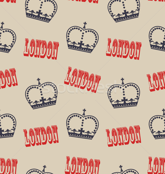 Old Seamless Texture of Crown of Queen. Retro Background Stock photo © smeagorl
