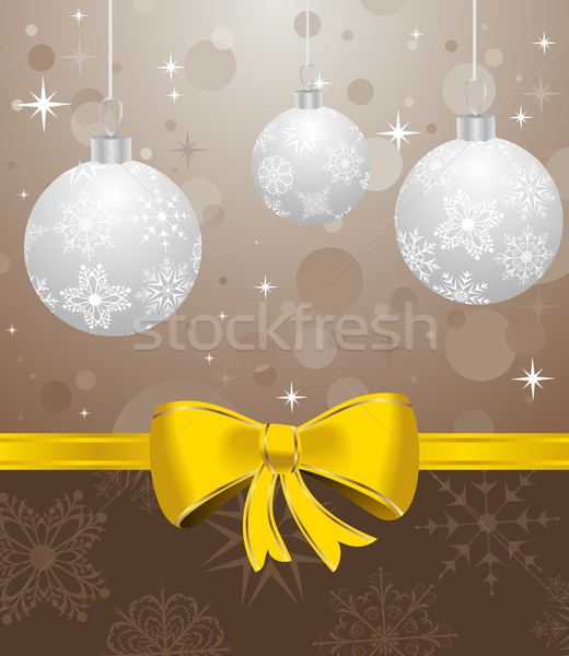 Christmas card or background with set balls Stock photo © smeagorl