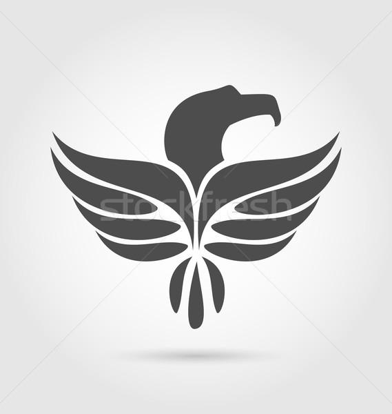 Heraldic eagle symbol isolated on white background Stock photo © smeagorl