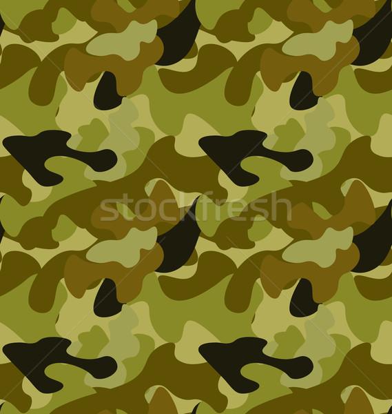 Seamless Woodland Camo Pattern Stock photo © smeagorl