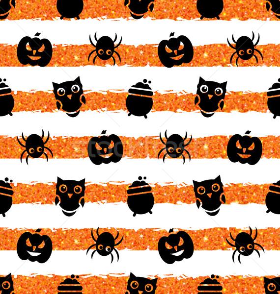 Kabak örümcek pot baykuş örnek Stok fotoğraf © smeagorl