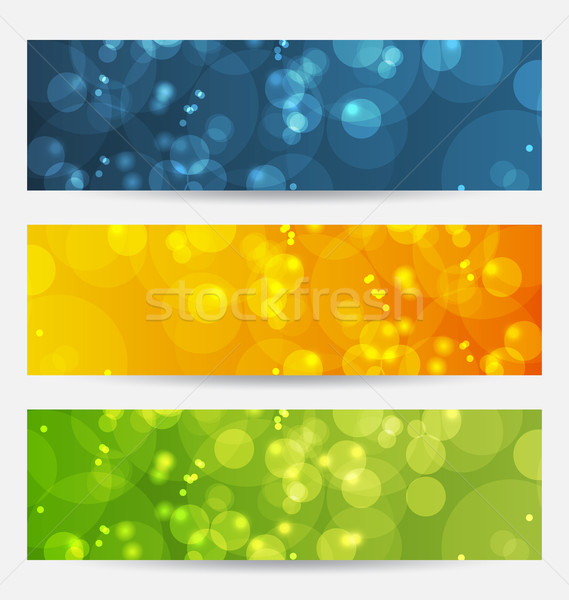 Set of abstract backgrounds with bokeh effect Stock photo © smeagorl